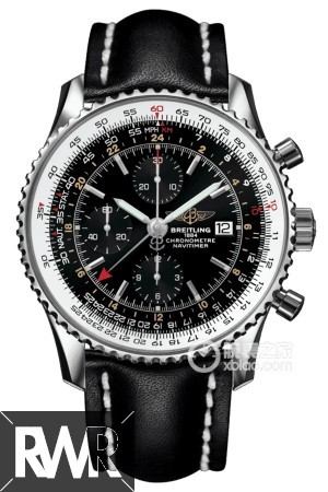 Replica Breitling Navitimer World Chronograph Automatic Chronometer Black Dial Men's Watch