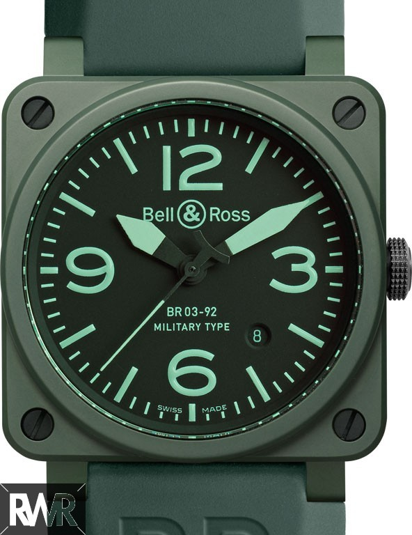 Replica Bell & Ross BR 03-92 Green Military Ceramic Watch