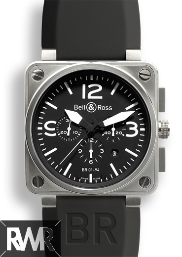 Replica Bell & Ross BR 01-94 Steel Mens Automatic Chronograph