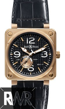 Bell & Ross BR 01-97 Reserve de Marche Pink gold Watch Replica