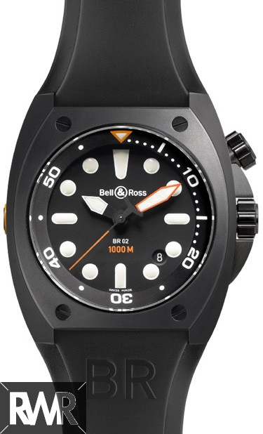 Replica Bell & Ross Marine Automatic Mens Watch BR 02-92 Pro Dial