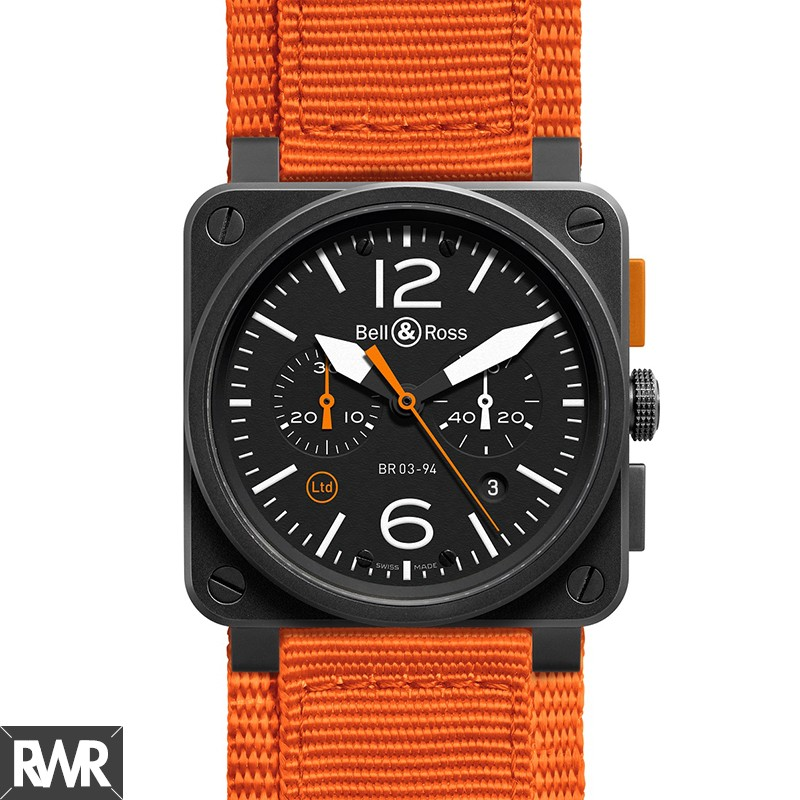 Replica Bell & Ross Aviation BR 03-94 Carbon Orange Watch