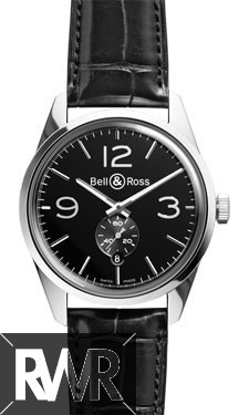 Bell & Ross Vintage BR 123 Officer Black Dial Watch Replica