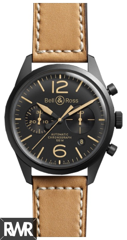 Replica Bell & Ross Vintage Mens BR 126 Heritage Automatic Watch