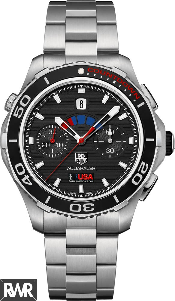 Replica Tag Heuer Aquaracer 500 Automatic Chronograph Watch CAK211B.BA0833