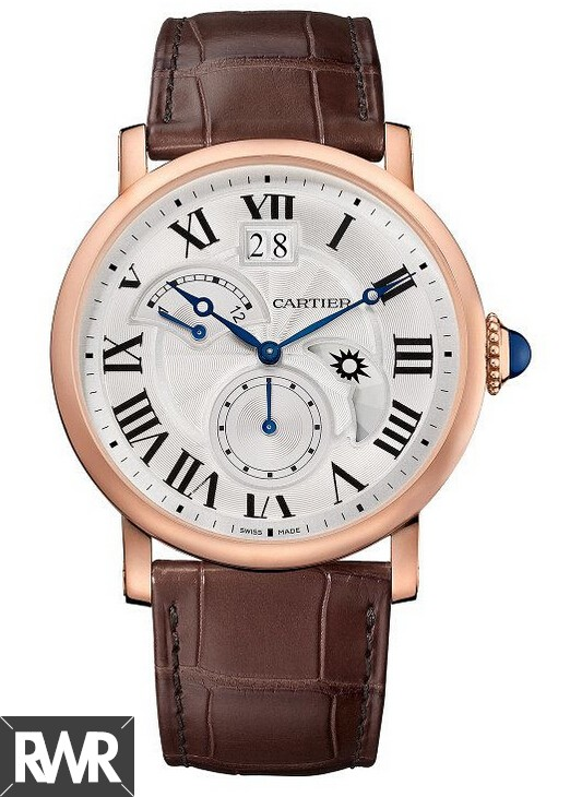 Fake Cartier Rotonde de Cartier Second Time Zone Day/Night Pink Gold W1556240