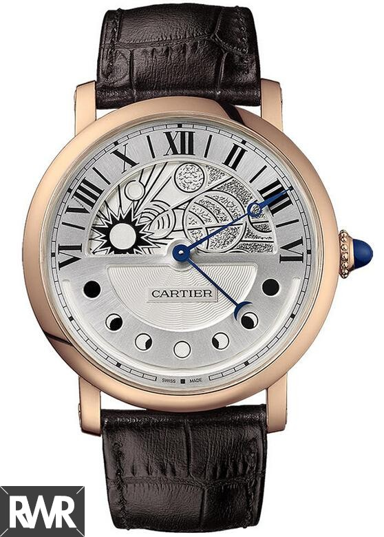 Fake Cartier Rotonde de Cartier Day and Night Pink Gold W1556243
