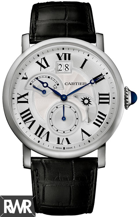 Fake Cartier Rotonde de Cartier Second Time Zone Day/Night Steel W1556368