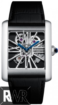 Fake Cartier Tank Skeleton Dial Palladium W5310026