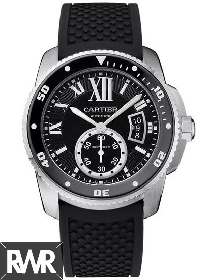 Fake Cartier Calibre de Cartier Diver 42mm Steel Watch W7100056