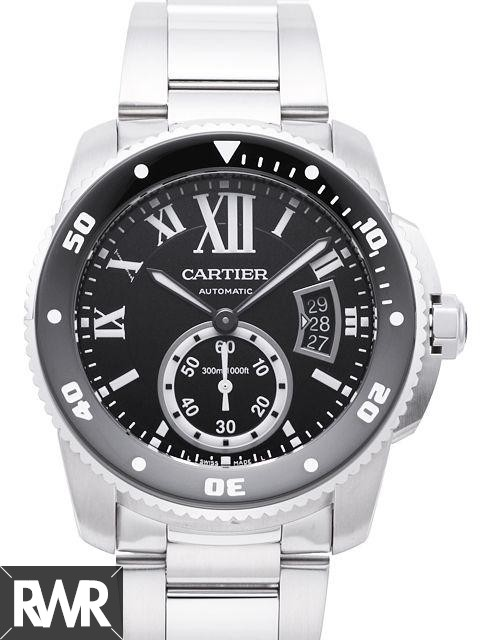 Fake Cartier Calibre de Cartier Diver 42mm Steel Watch W7100057