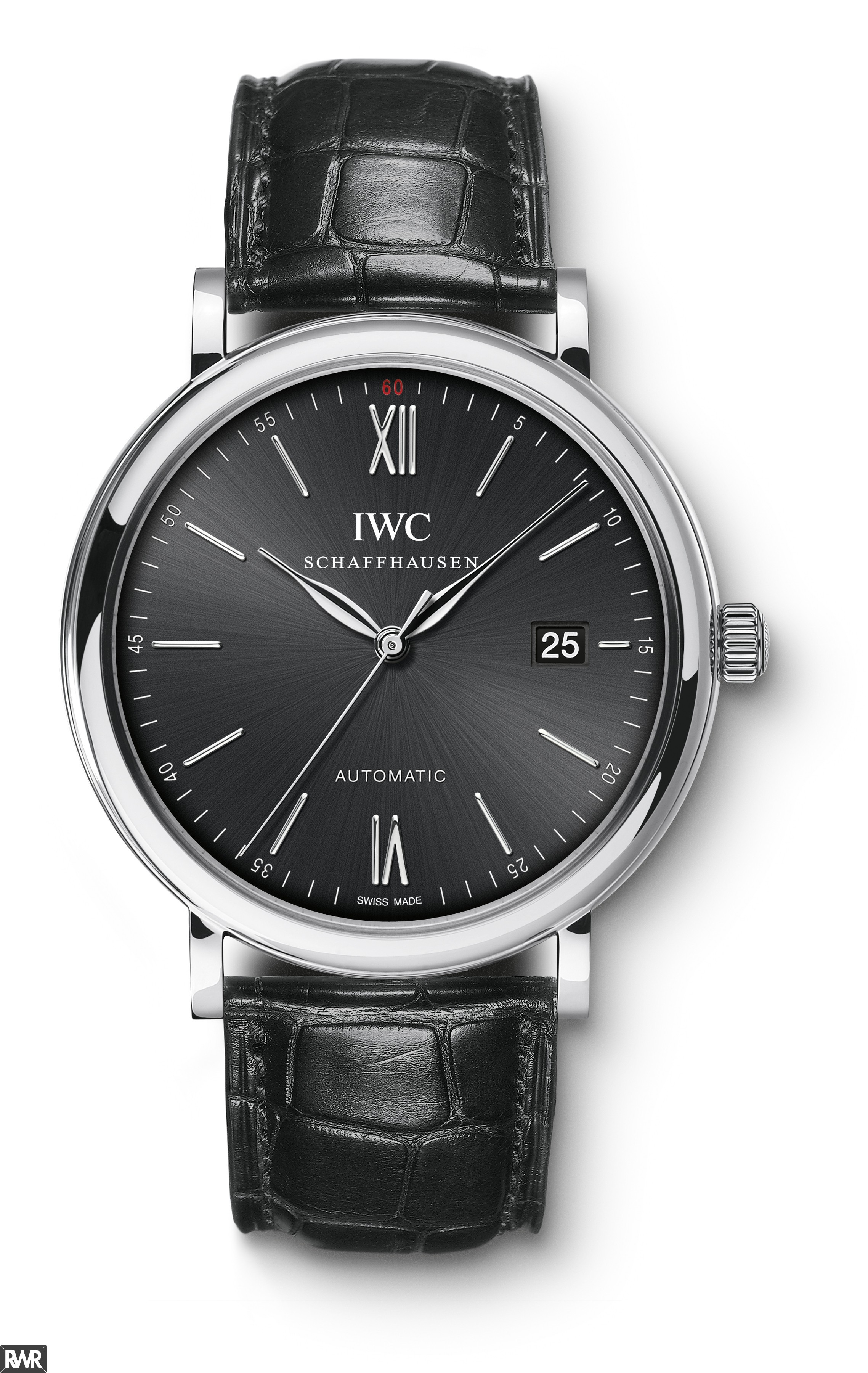 IWC Portofino Automatic Black Dial Mens Watch IW356502 Fake