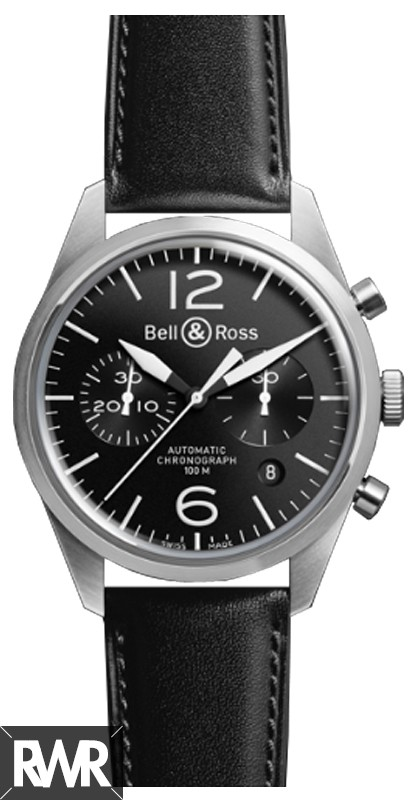 Replica Bell & Ross Vintage Original BR 126 Black Dial Watch