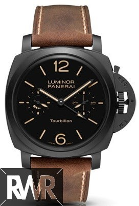 Fake Panerai Luminor 1950 Tourbillon GMT Automatic Ceramica 48mm PAM00396
