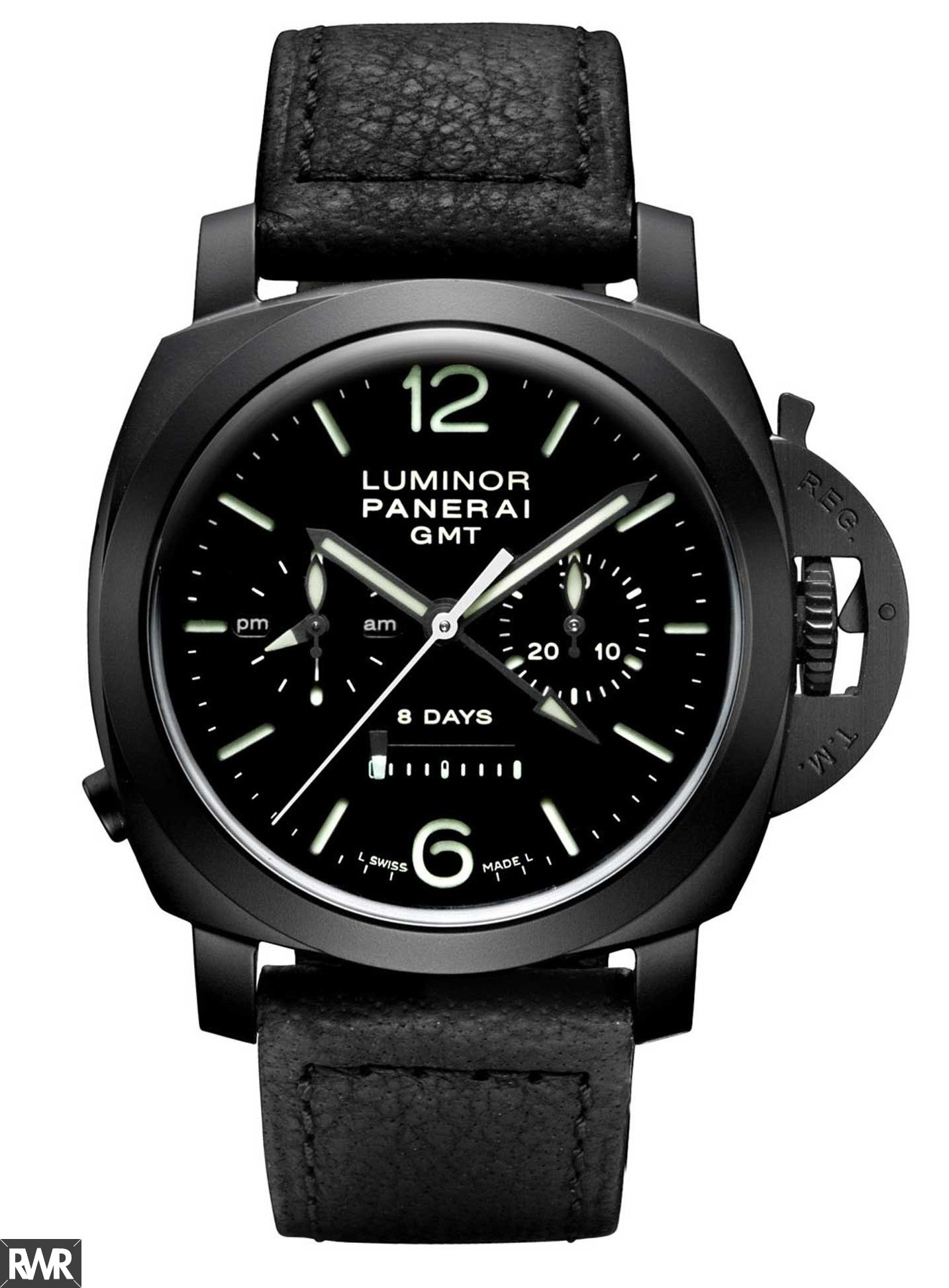 Fake Panerai Luminor 1950 Chrono Monopulsante 8 Days GMT Watch PAM 00317