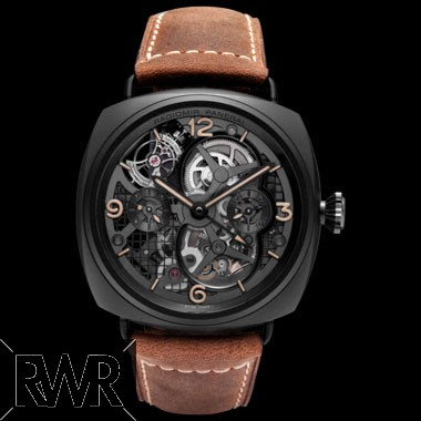 Fake Panerai Radiomir Tourbillon GMT Ceramic 48mm PAM 00348