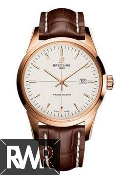 Replica Breitling Transocean Red Gold R1036012/G722-croco-brown-folding