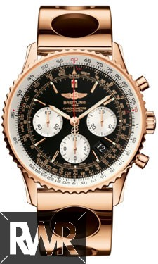 Fake Breitling Navitimer 01 Rose Gold Air Racer Bracelet RB012012/BA49