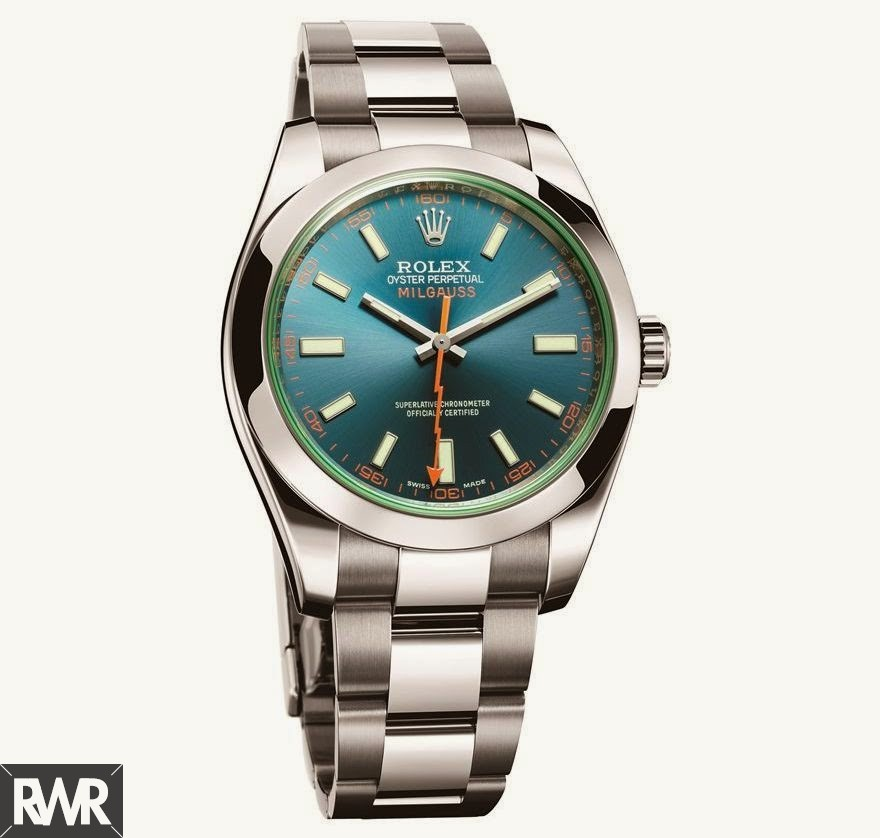 Fake Rolex Oyster Perpetual Milgauss116400 GV Blue Dial