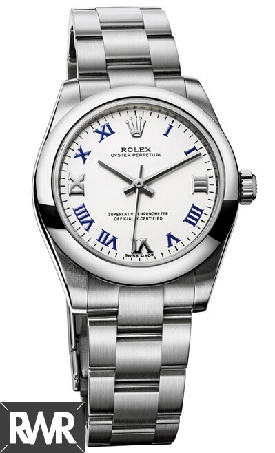 Fake Rolex Oyster Perpetual 31mm White Lacquer Dial 177200–70160