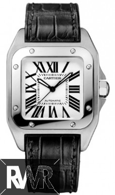 Cartier Santos 100 Stainless Steel Medium Watch W20106X8 Fake