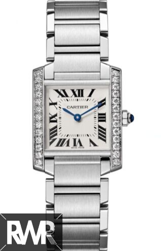 Best Cartier Tank Francaise Silver Dial Ladies W4TA0009 Replica Watch sale