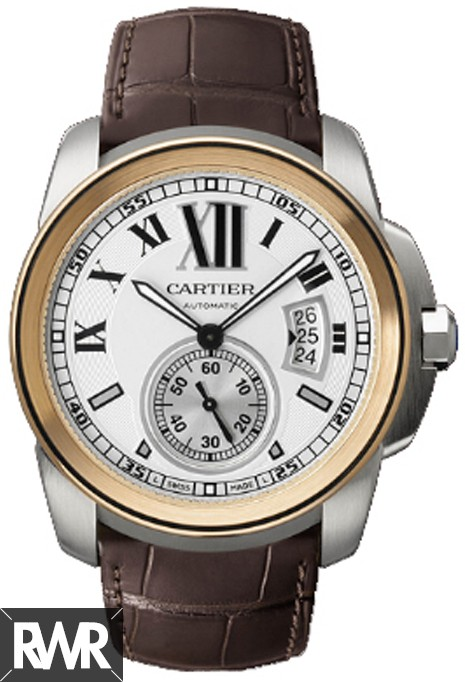 Cartier Calibre de Cartier Steel & Rose Gold Automatic Watch W7100011 Fake
