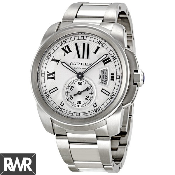 Replica Cartier Calibre de Cartier 42mm Stainless Steel Mens Watch W7100015