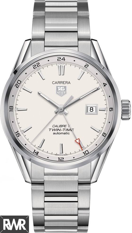 Fake Tag Heuer Carrera Calibre 7 Twin Time Automatic Watch 41 mm WAR2011.BA0723