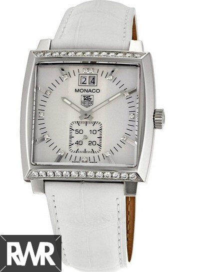 Replica Tag Heuer Monaco Grande Date Diamond Bezel and Dial watch WAW1313.FC6247