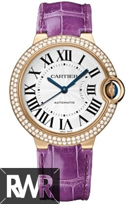 Replica Cartier Ballon Bleu 36mm  Rose Gold & Diamond WE900551