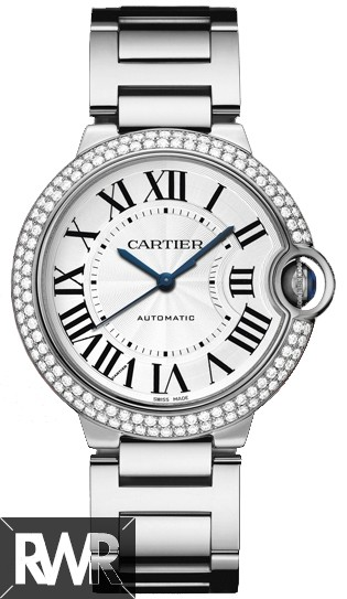 Replica Cartier Ballon Bleu 36mm White Gold Watch WE9006Z3