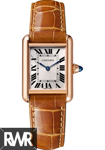 Best Cartier Tank Louis Silvered Beaded Dial Ladies Hand Wound WGTA0010 Replica Watch sale