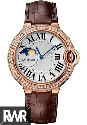 Best Cartier Ballon Bleu Moonphase 37mm Pink Gold WJBB0027 Replica Watch sale