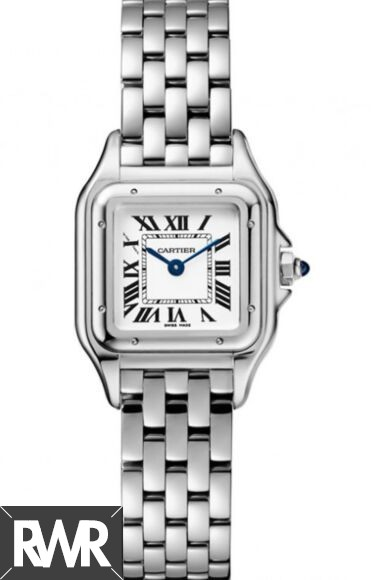 Best Cartier Panthere de Silver Dial Ladies Stainless Steel WSPN0006 Replica Watch sale