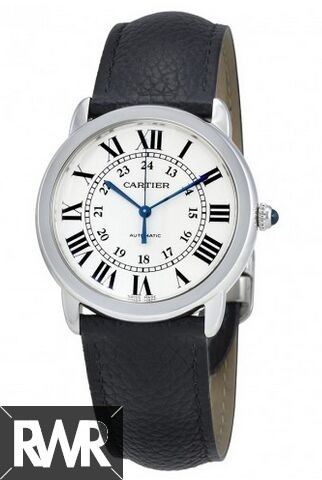 Best Cartier Ronde Solo Silver Opaline Dial Automatic Ladies WSRN0021 Replica Watch sale