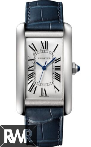 AAA grade Cartier Tank Americaine Automatic Silver Dial Men's WSTA0018 Replica
