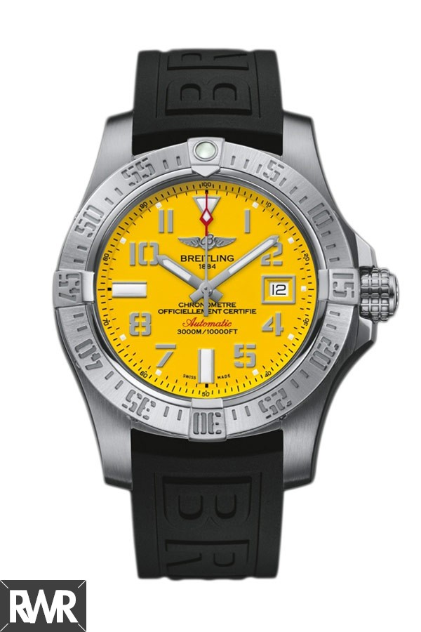 Replica Breitling Avenger II Seawolf Automatic Watch Yellow Dial A1733110/I519/152S/A20SS.1