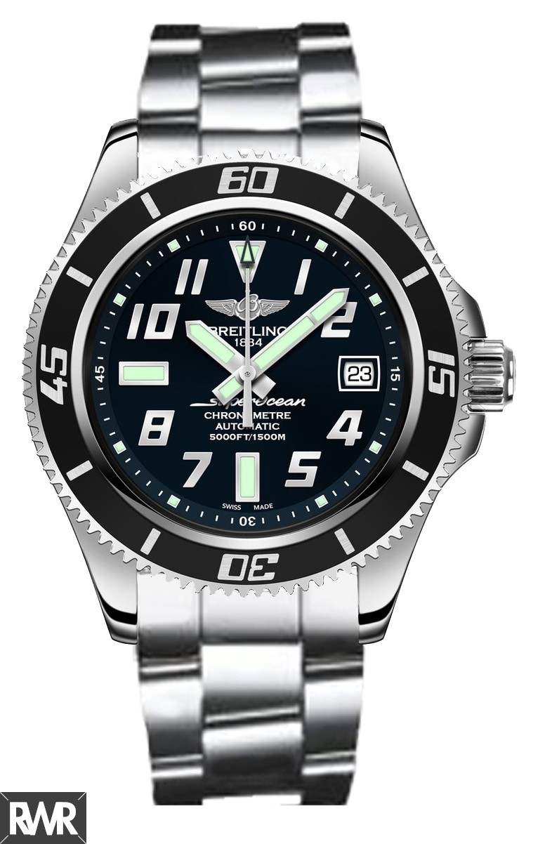 Breitling Superocean 42 Black Dial Stainless Steel Men's Watch A1736402/BA28/161A