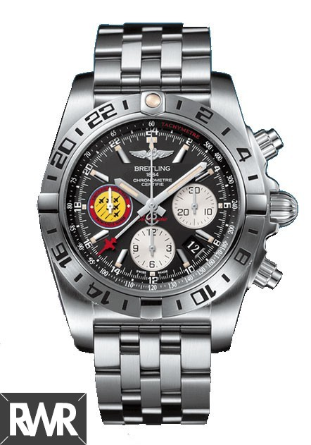 "Replica Breitling Chronomat 44 GMT""Patrouille Suisse 50th Anniversary""AB04203J/BD29"