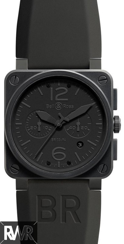 Replica Bell&Ross Aviation Chronograph Automatic Mens Watch BR 03-94 Phantom
