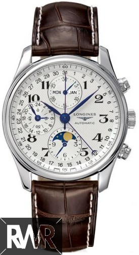 Replica Longines Master Chronograph Moon Phase L2.673.4.78.3