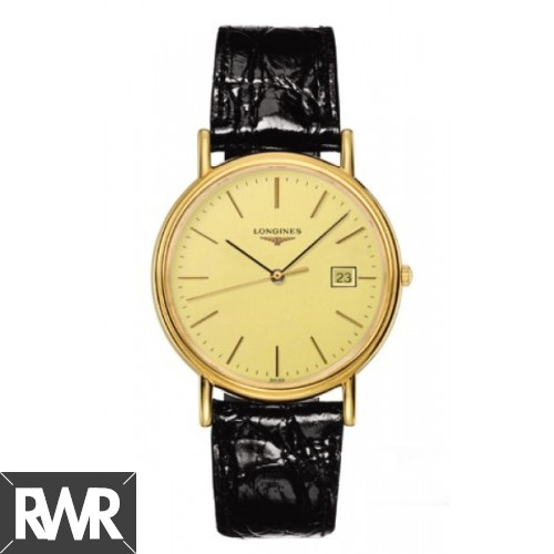 Fake Longines Presence 38.5 Quartz Yellow Stick Yellow L4.790.2.32.2