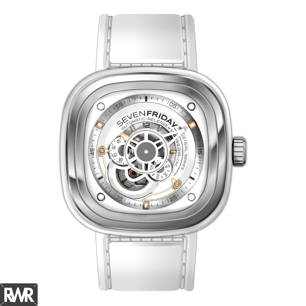 Replica SevenFriday P1-2 Stainless Steel / White
