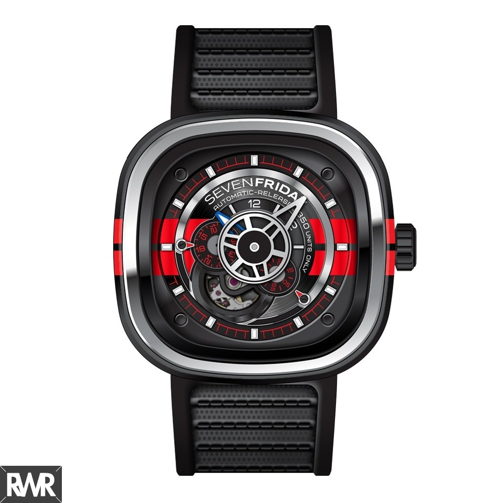 Replica SevenFriday P3-Bb Stainless Steel / PVD / Red