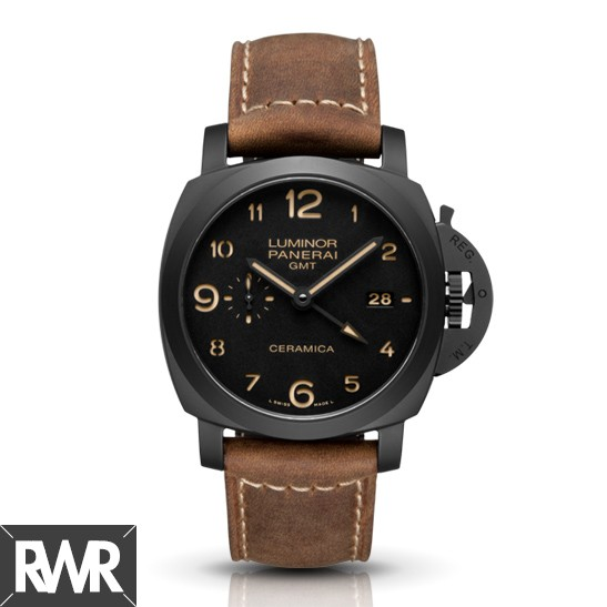 Replica Panerai Luminor 1950 3 Days GMT Automatic Ceramica 44mm PAM00441