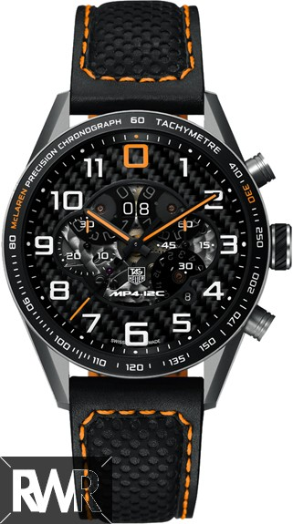 Replica TAG Heuer Carrera Mclaren Limited Edition Mens Black Automatic Chronograph Watch CAR2080.FC6286