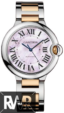 Replica Cartier Ballon Bleu 36mm Steel & Rose Gold W6920033