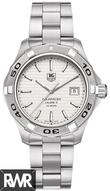 Tag Heuer Aquaracer Calibre 5 Silver Dial Mens Watch WAP2011.BA0830