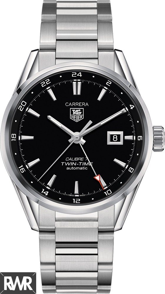 Replica TAG Heuer Carrera Calibre 7 Twin-Time Automatic 41 mm WAR2010.BA0723